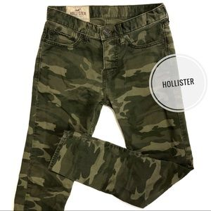 Hollister Green Camouflage Skinny Jeans